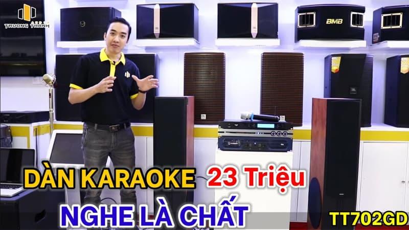Dàn karaoke 23 triệu sử dụng loa paramax d88 limited