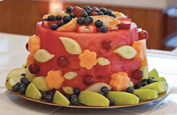 Hình ảnh bánh sinh nhật hoa quả