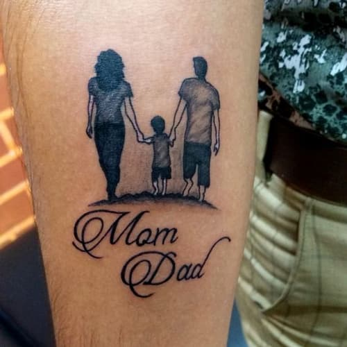 Hình xăm cha mẹ mini