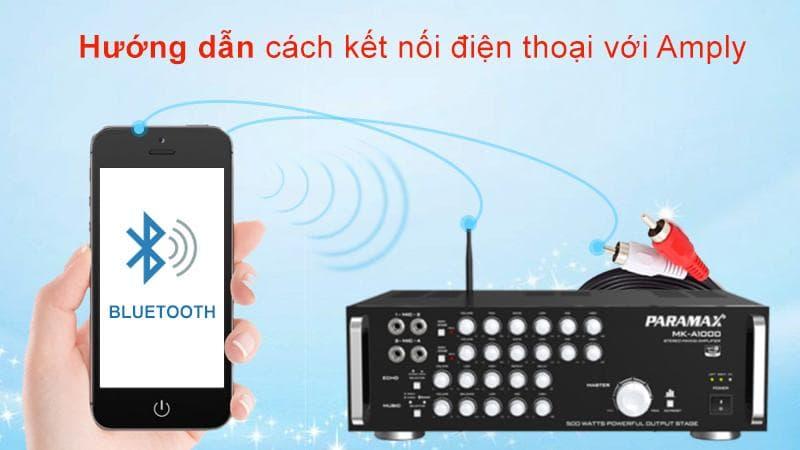Hướng dẫn kết nối điện thoại với amply để hát karaoke