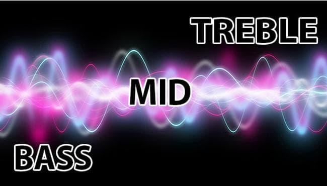 Khái niệm về âm trầm (bass), âm trung (Mid) và âm cao (TREBLE) trong âm thanh