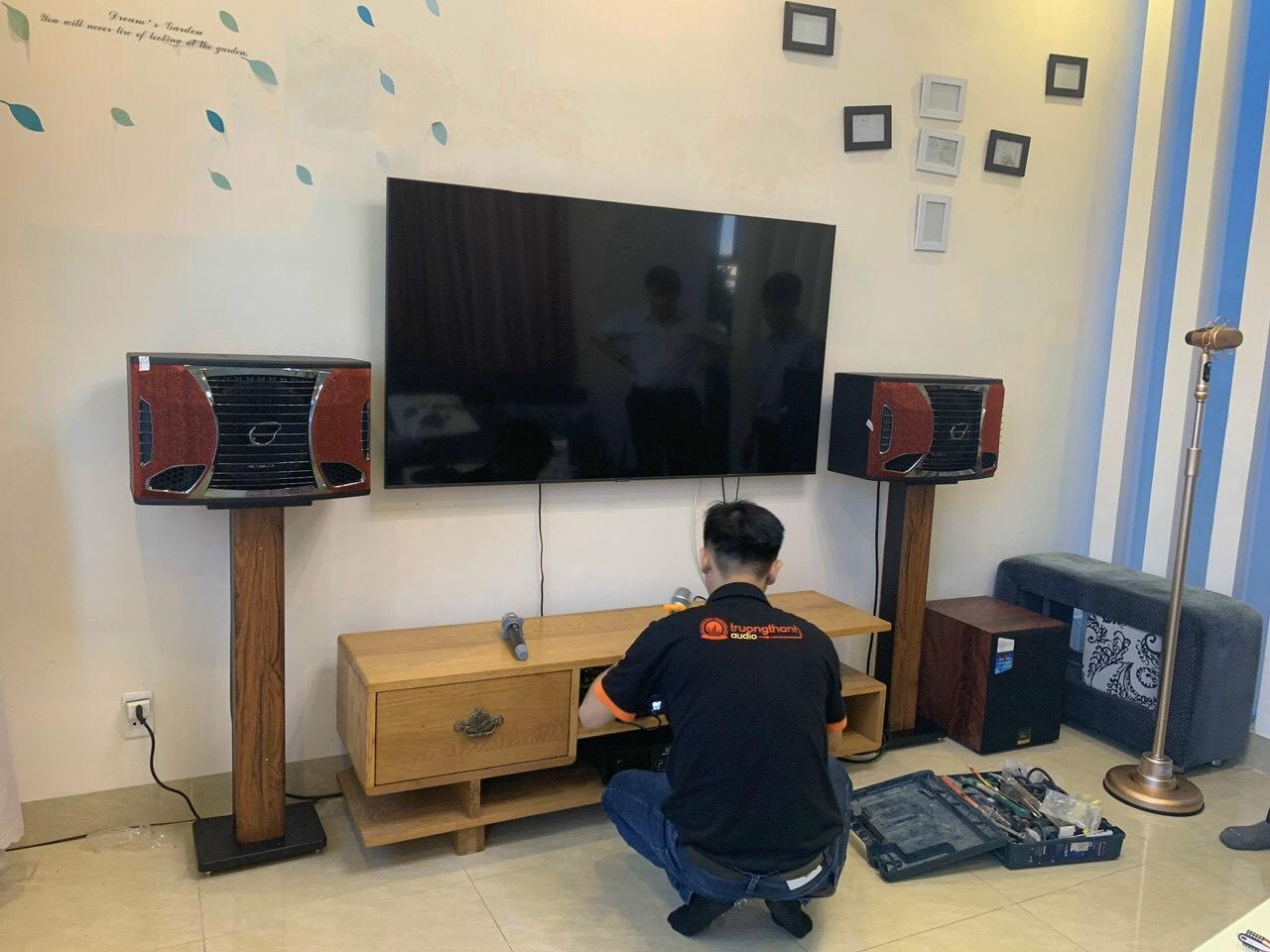 Lắp đặt bộ dàn karaoke gia đình TT-503GD tại TP Vũng Tàu 1