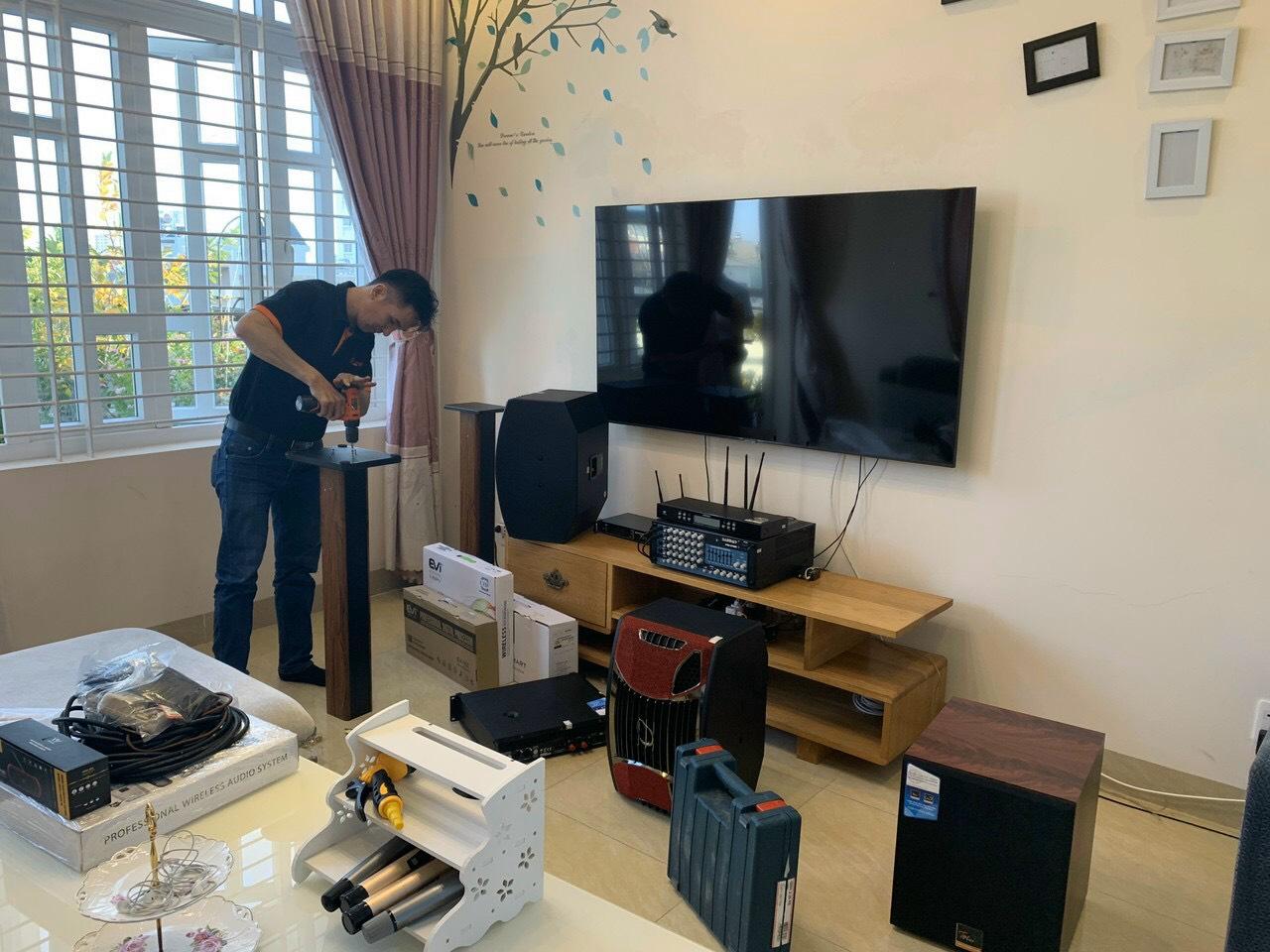 Lắp đặt bộ dàn karaoke gia đình TT-503GD tại TP Vũng Tàu 9