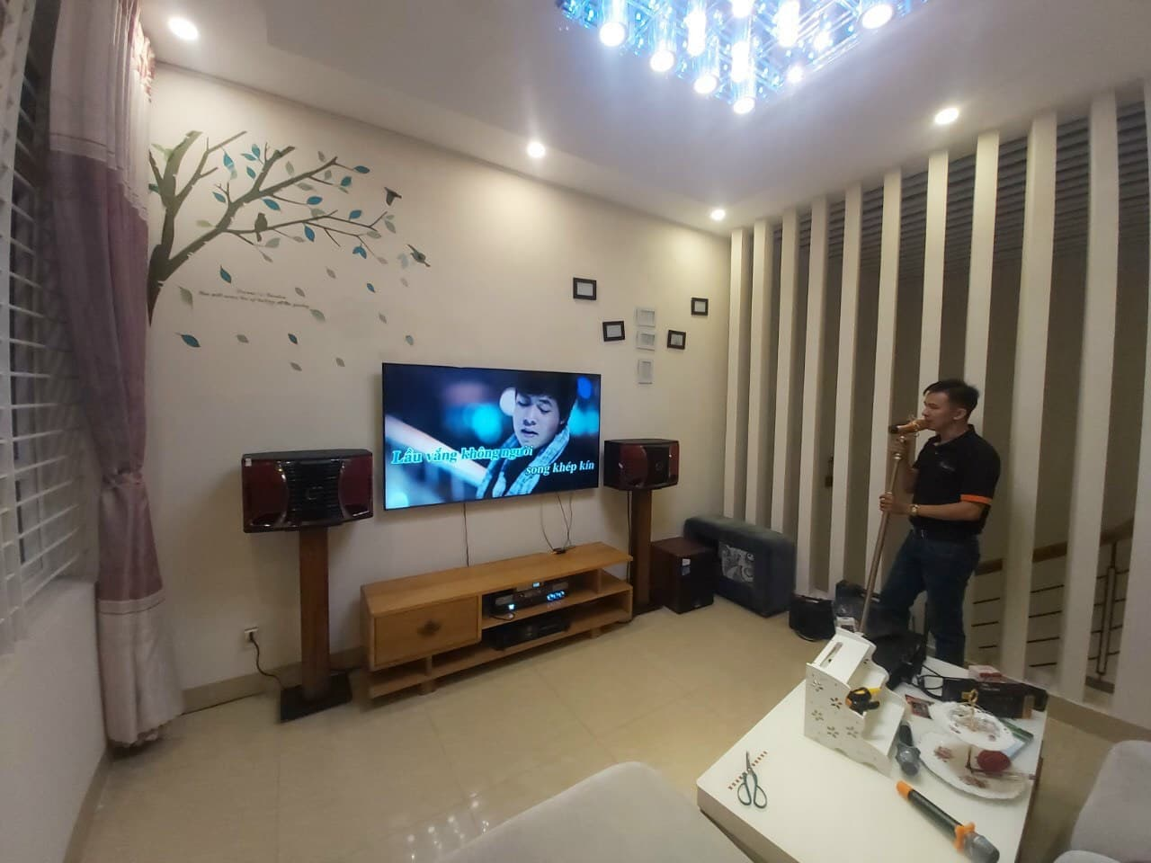 Lắp đặt bộ dàn karaoke gia đình TT-503GD tại TP Vũng Tàu 11