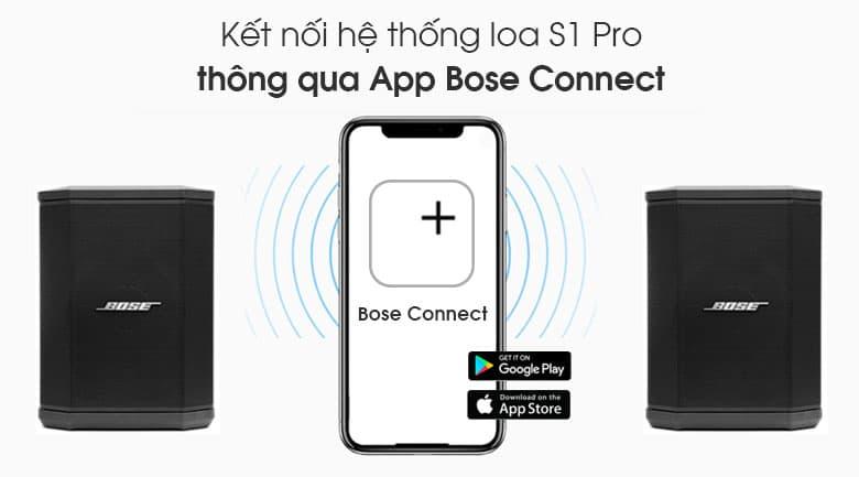 Loa Bose S1 Pro tính năng kết nối Bose Connect