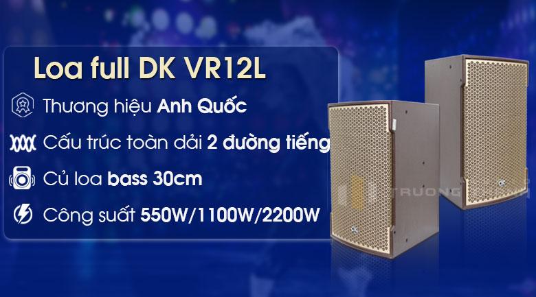 Loa karaoke DK VR12L (full bass 30cm, 2 loa 2 đường)