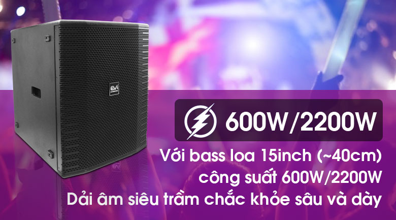 Loa sub Evi Acoustic EKX 115S tính năng 3