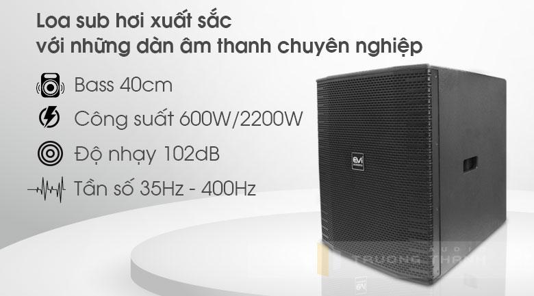 Loa sub Evi Acoustic EKX 115S tính năng 4