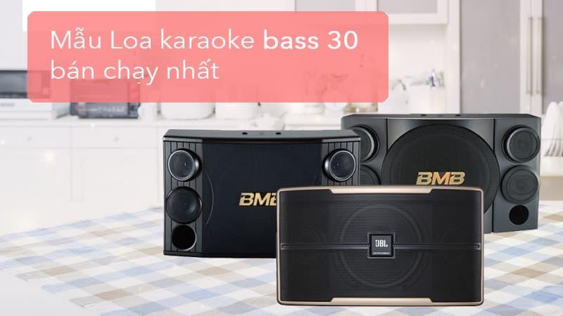 Top 5 loa karaoke bass 30 bán chạy nhất hiện nay