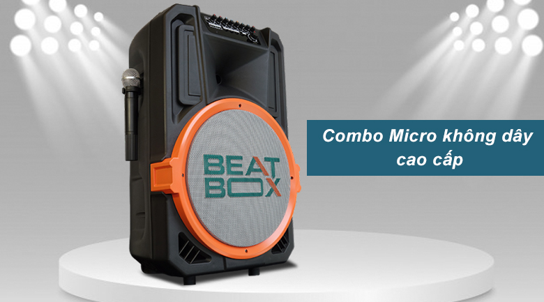Loa kéo Acnos KB39U | combo Micro không dây cao cấp