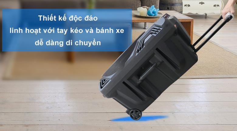 Loa kéo Acnos KB39X | Thiết kế độc đáo linh với bánh xe di chuyển dễ dàng