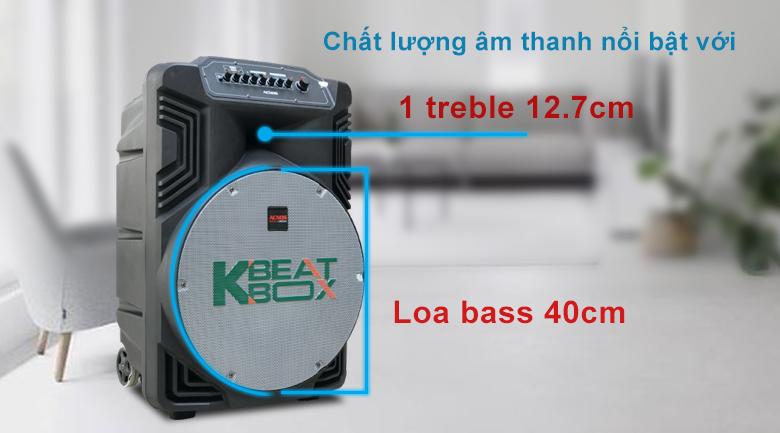 Loa kéo Acnos KB39X | Chất âm nổi bật với sự phối hợp nhịp nhàng của treble và bass