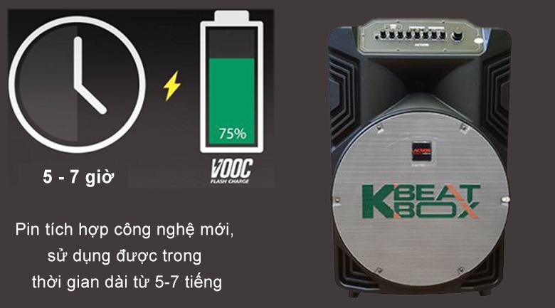 Loa kéo Acnos KB39X | pin công nghệ mới kéo dài thời gian sử dụng lên đến 7 tiếng