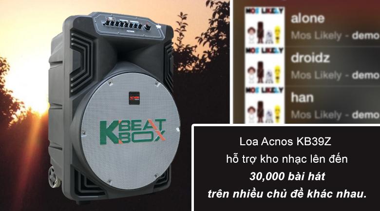 Loa kéo Acnos KB39X | Kho nhạc hơn 30,000 bài hát theo nhiều chủ đề khác nhau