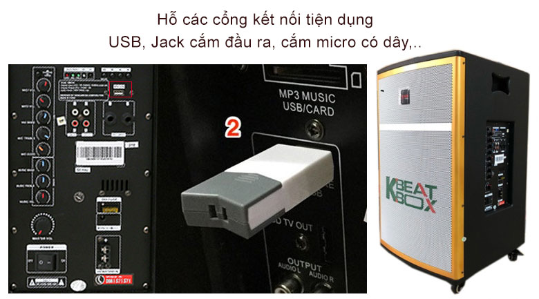 Loa kéo Acnos CB42W | Cổng kết nối từ xa vô cùng hiện đại