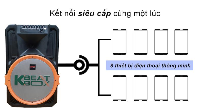 Loa kéo Acnos KB39X | Kết nối siêu cấp cùng một lúc