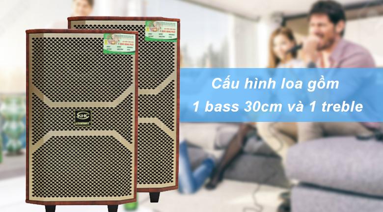 Loa kéo Krawamax KH B30G | Kết cấu 1 bass 30 và 1 Treble