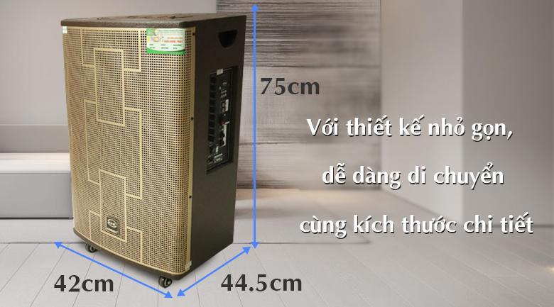 Loa kéo Krawamax KH403 thiết kế nhỏ gọn, dễ dàng di chuyển