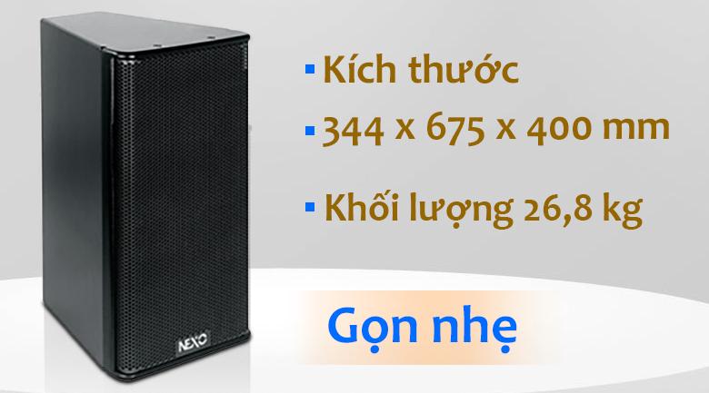 Loa Nexo S1230 | Kích thước gọn gàng