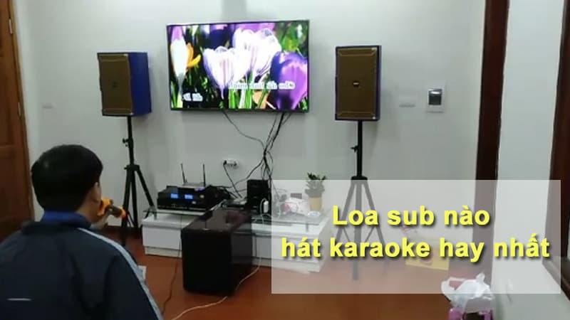 Loa sub nào hát karaoke hay nhất hiện nay
