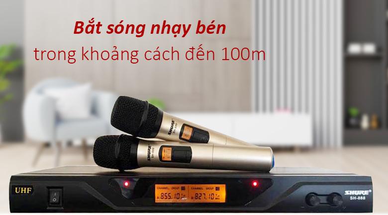 Micro Shure sh888 | Bắt sóng nhạy trong khoảng cách hơn 100m