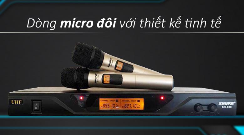 Micro Shure sh888 | Dòng micro đôi có thiết kế tinh tế