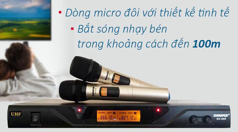 Micro Shure sh888 | Micro hiện đại nhất thị trường