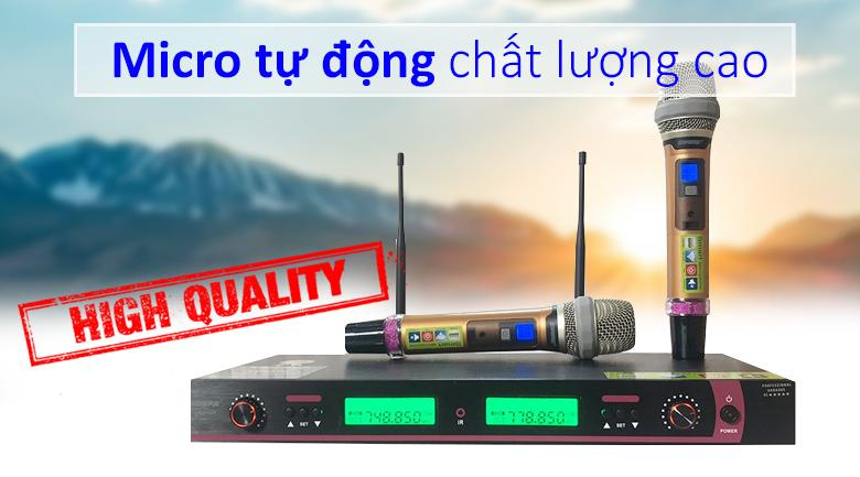 Micro shure UGX10II | Micro tự động chất lượng chính hãng
