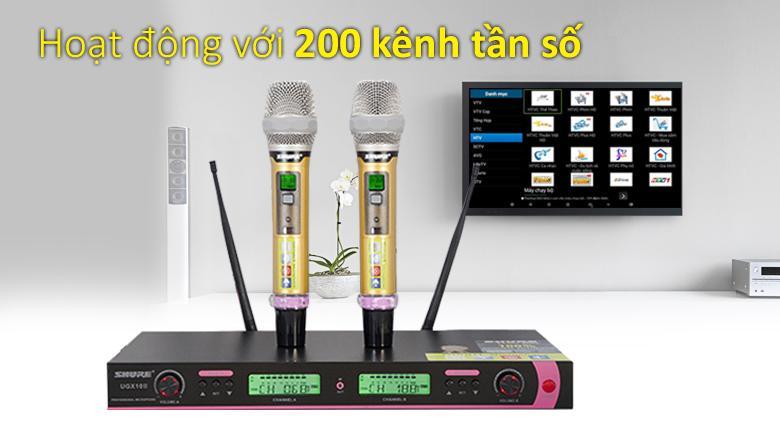 Micro shure UGX10II | Hoạt động với 200 kênh tần số