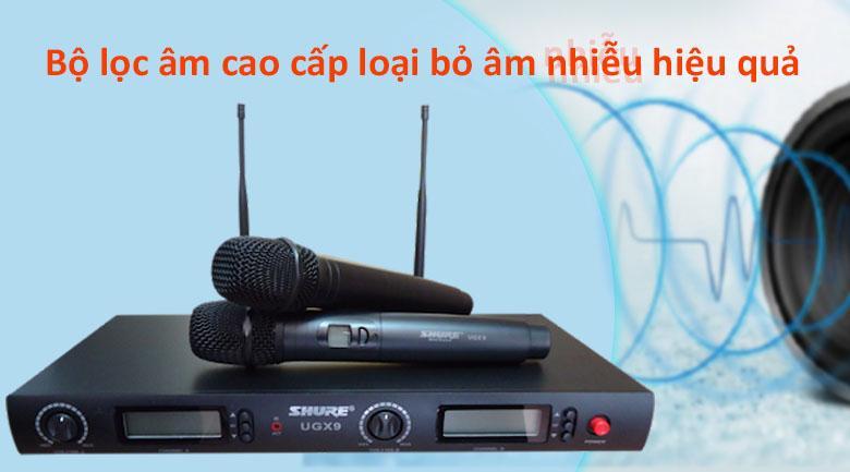 Micro Shure UGX9   Bộ lọc âm cao cấp loại bỏ âm nhiễu hiệu quả