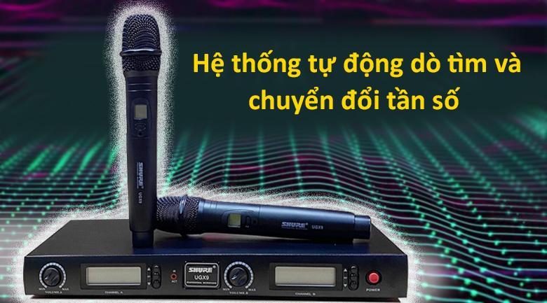 Micro Shure UGX9   Hệ thống tự động dò tìm và chuyển đổi tần số