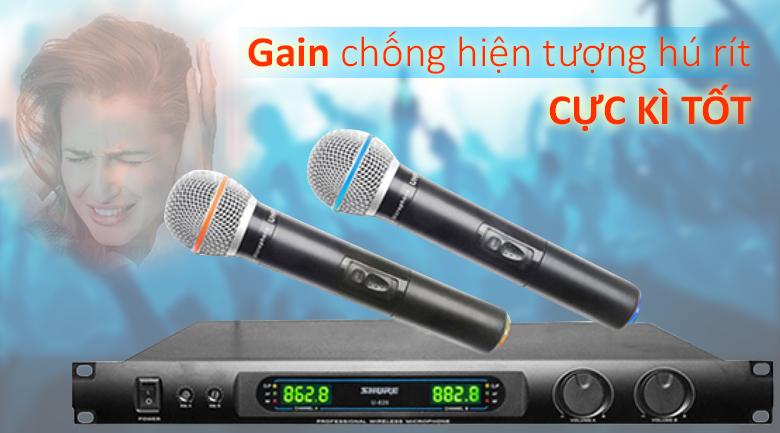 Micro Shure U820 | Gian chống hú rít cực tốt
