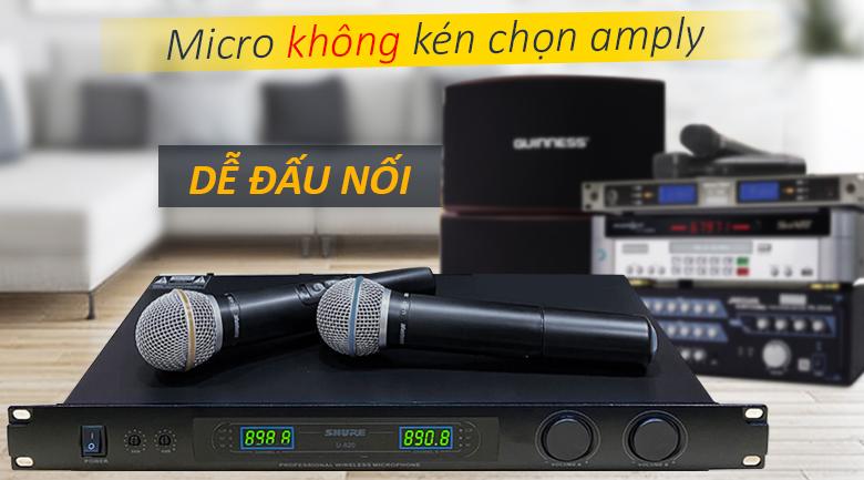 Micro Shure U820 | Micro dễ đấu nối, không kén chọn amply