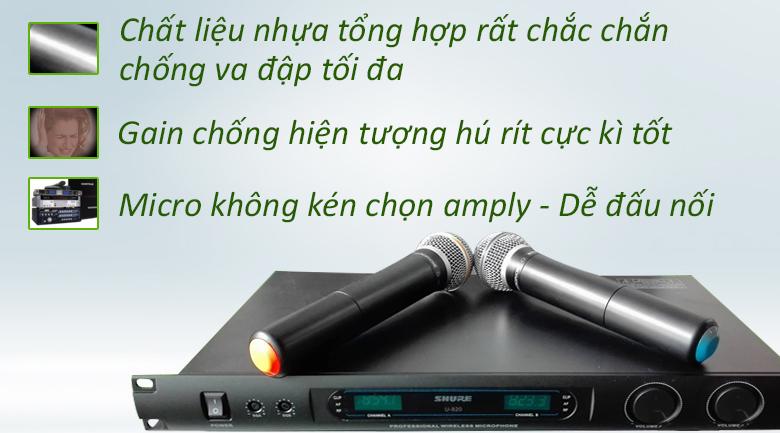 Micro Shure U820 | Micro có độ bền cao nhất