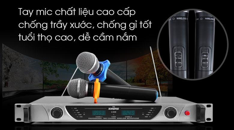 Micro Shure U930 tính năng 3