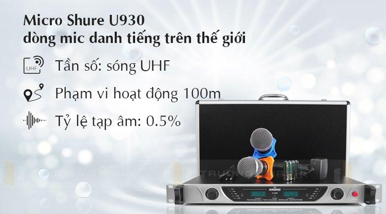 Micro Shure U930 tính năng 1