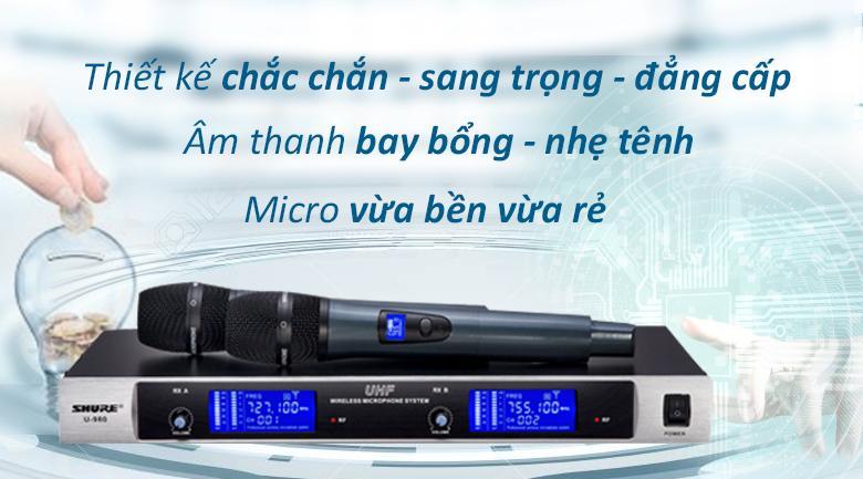 Micro Shure U980   Chuẩn micro chất lượng cao
