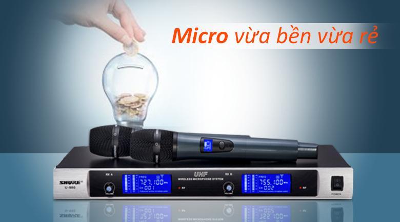 Micro Shure U980   Micro vừa bền vừa rẻ