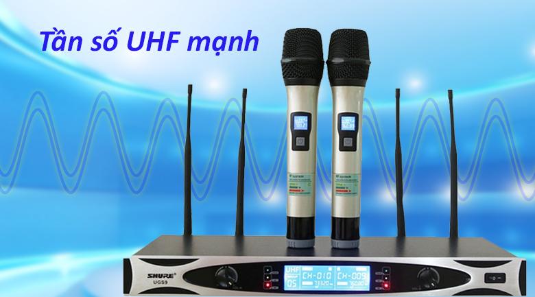 Micro Shure UGS9 | Tần số UHF mạnh
