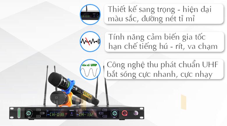 Micro không dây Shure UGX23 tính năng 1