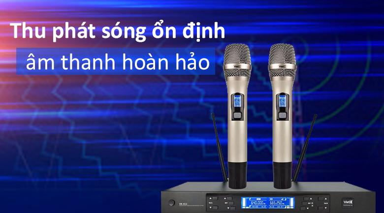 Micro không dây VietK VK-411 | Thu phát sóng ổn định