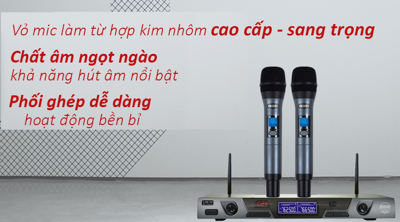 Micro không dây BBS E-500GS