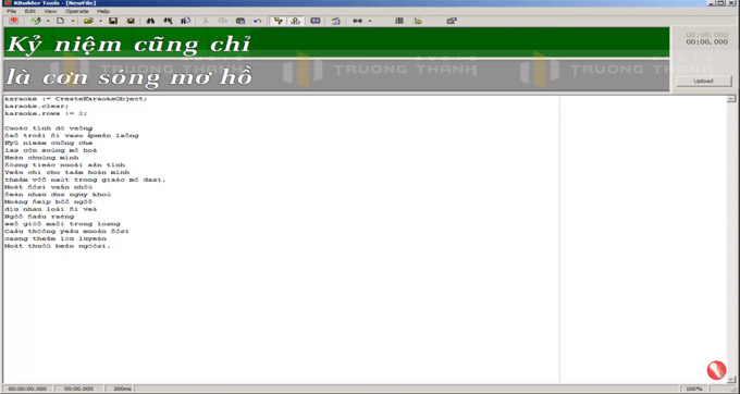 Giao diện sử dụng phần mềm Kbuilder 3.5