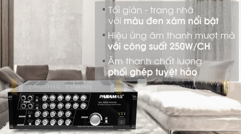 Tính năng Amply karaoke Paramax SA-999 Piano New
