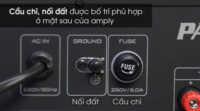 Amply karaoke Paramax SA-999 Piano New có cầu trí nối đất