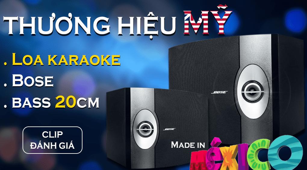 Loa karaoke Bose bass 20cm 301 seri V Made in Mexico