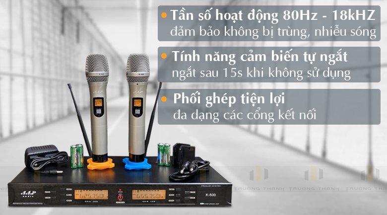 Tính năng micro aap K500