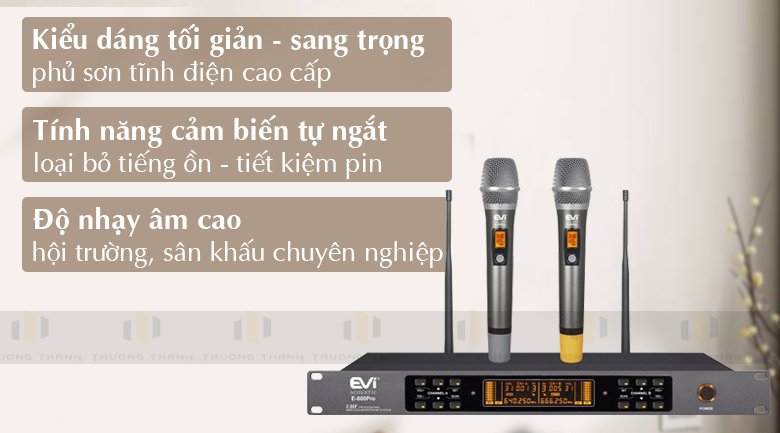 Tính năng Micro Evi E800