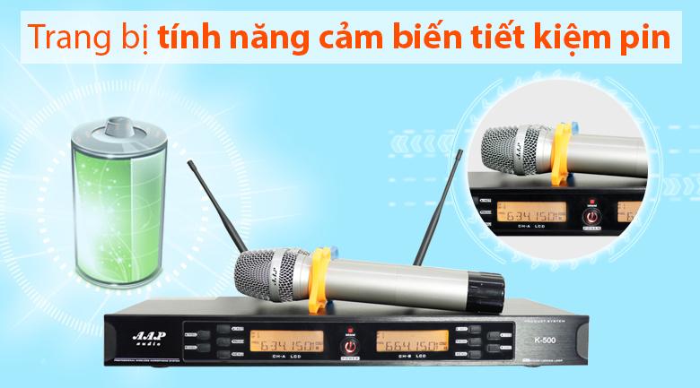 Micro aap k500 trang bị tính năng cảm biến tự ngắt