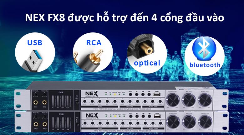 Vang cơ NEX FX8 | Được trang bị 4 cổng đầu vào